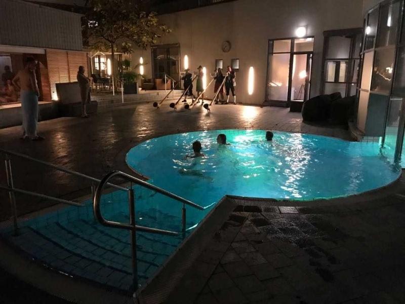 Mutzbacher Alphornbläser die Kölner - gebucht für Auftritt in Sauna Saunalandschaft Wellness