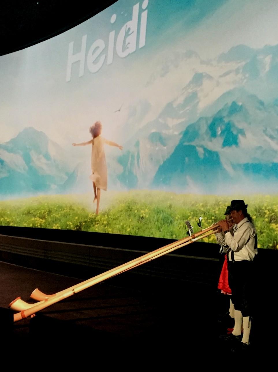 Auftritt zum Kinostart des Films Heidi